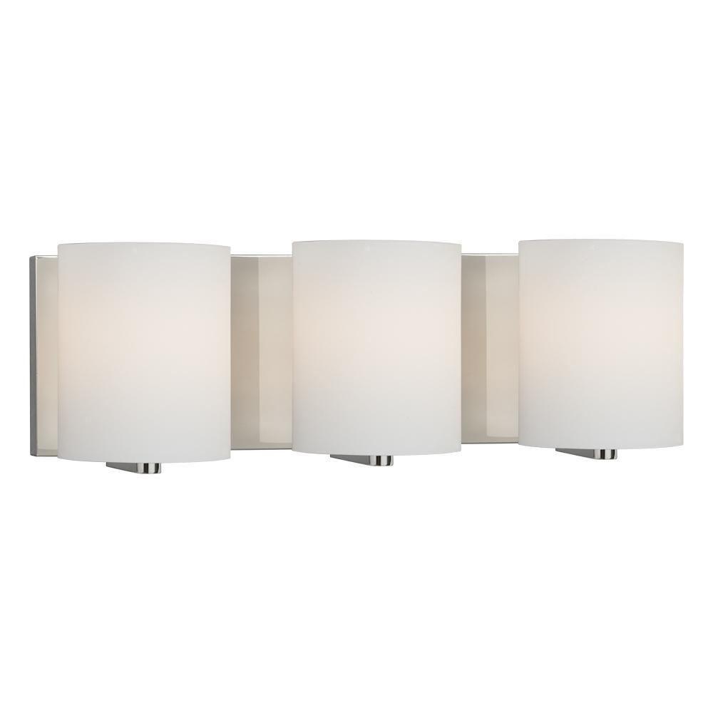 Filament Design Negron 3-Light Chrome Incandescent Bath Vanity Light