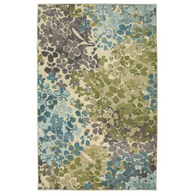 Radiance Aqua 7 ft. 6 in. x 10 ft. Indoor Area Rug