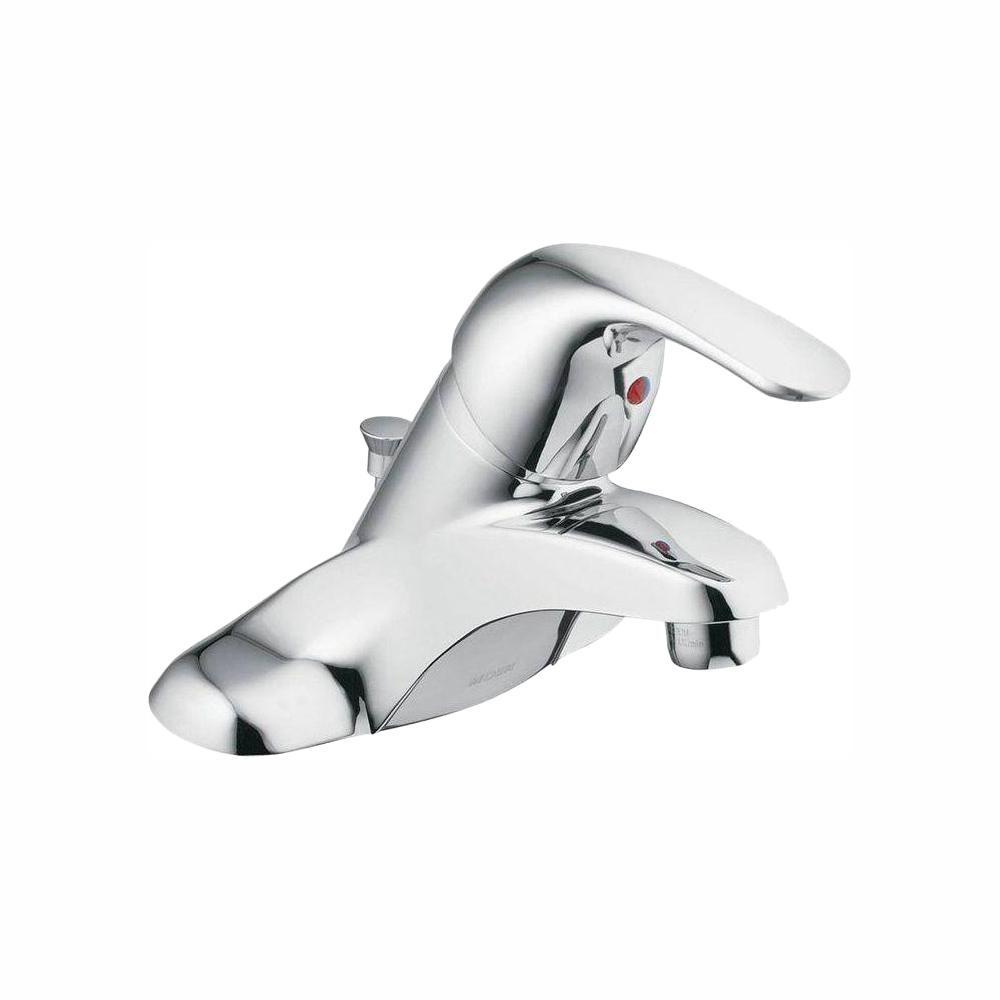 Adler 4 in. Centerset Single-Handle Low-Arc Bathroom Faucet in Chrome