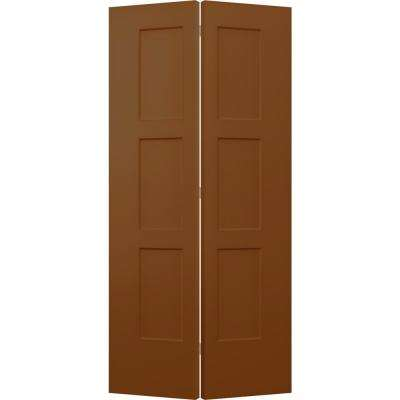 36 in. x 80 in. Birkdale Hazelnut Stain Smooth Hollow Core Molded Composite Interior Closet Bi-fold Door
