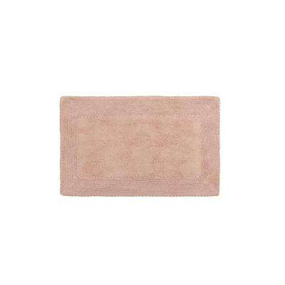Cotton Ruffle 17 in. x 24 in. Bath Rug in Blush