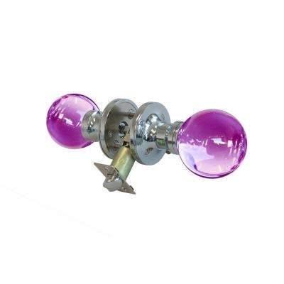 Plush Pinkett Crystal Chrome Privacy Door Knob with LED Mixing Lighting Touch Activated