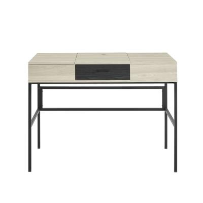 Welwick Designs 42 Inch Lift in Birch/Graphite with Tablet Holder Desk