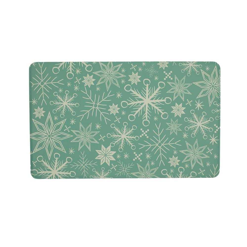 Cozy Snowflake 22 in. x 36 in. Prestige Kitchen Mat