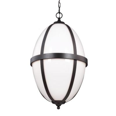 Amato 16.25 in. W. 3-Light Oil-Rubbed Bronze Pendant