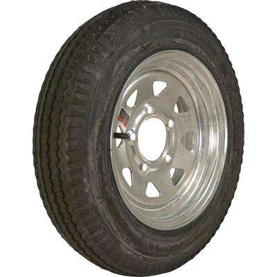 480-12 K353 BIAS 780 lb. Load Capacity Galvanized 12 in. Bias Tire and Wheel Assembly