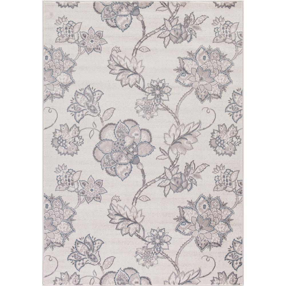 Lara Floral Harmony Ivory 5 ft. 3 in. x 7 ft.