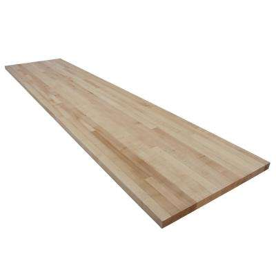9 ft. L x 2 ft. 1 in. D x 1.5 in. T Butcher Block Countertop in Finished Maple