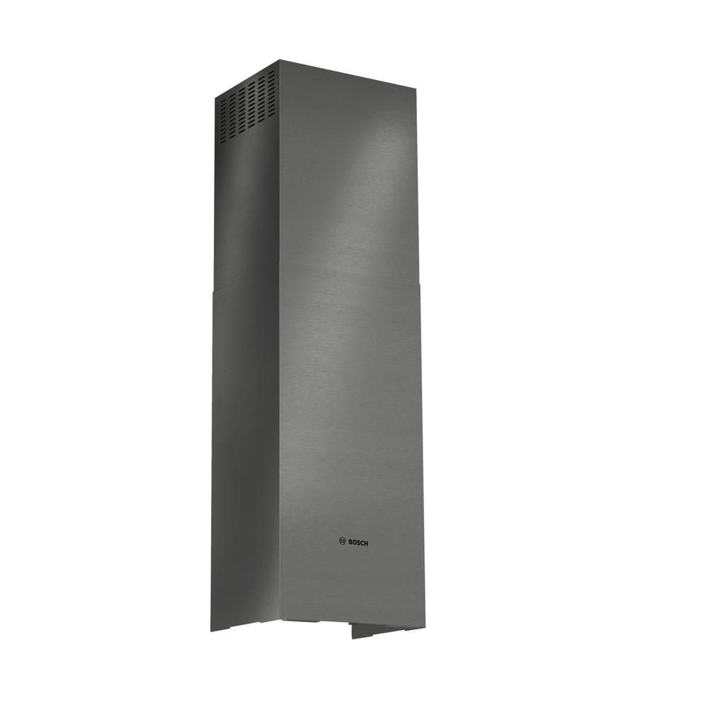 Chimney Extension for Bosch Pyramid Style Wall Range Hoods in Black