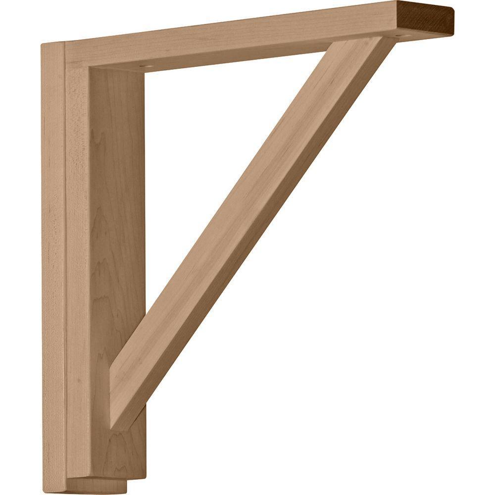 2-1/2 in. x 12-3/4 in. x 12-1/4 in. Rubberwood Traditional Shelf Bracket