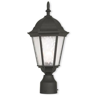 Hamilton 1-Light Outdoor Textured Black Post Light