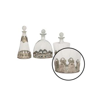 Internet #302583866. Litton Lane Clear Decorative Glass Bottles ...