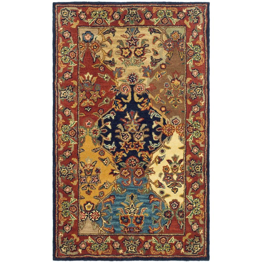 Safavieh Heritage Multi Burgundy 4 Ft X 6 Ft Area Rug