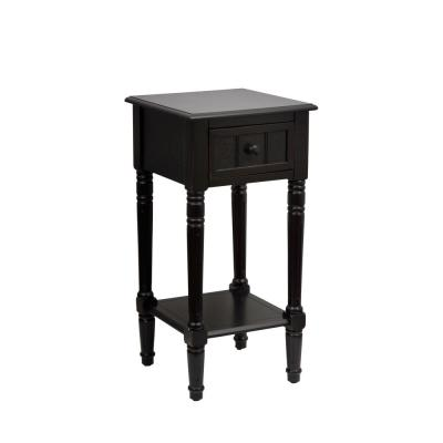 Simplify Black 1-Drawer End Table