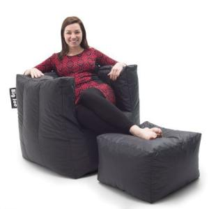 Brilliant Cube Chair With Ottoman Stretch Limo Black Smartmax Bean Bag Evergreenethics Interior Chair Design Evergreenethicsorg