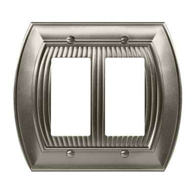Sea Grass 2-Rocker Wall Plate, Satin Nickel