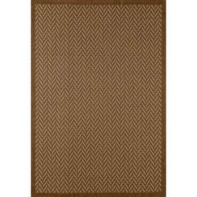 Plymouth Bayou Brown 8 ft. x 11 ft. Indoor/Outdoor Area Rug