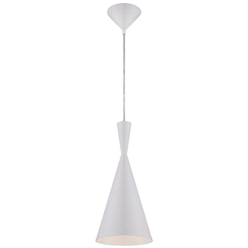 null Bronx Collection 1-Light White Pendant