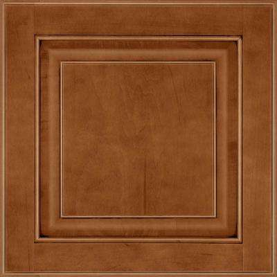 13 in. x 12-7/8 in. Cabinet Door Sample in Olmsted Maple Auburn Glaze