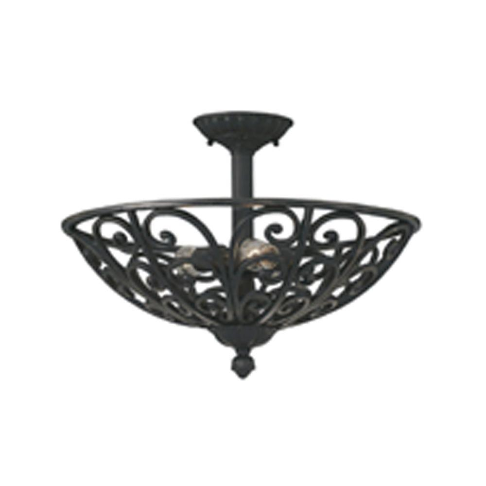 Designers Fountain Florence 3 Light Natural Iron Ceiling