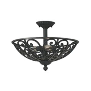 Designers fountain florence 3 light natural iron ceiling semi flush designers fountain florence 3 light natural iron ceiling semi flush mount light 9192 ni the home depot mozeypictures