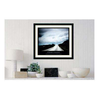 30.25 in. W x 27.13 in. H Posibilidades' Printed Framed Wall Art