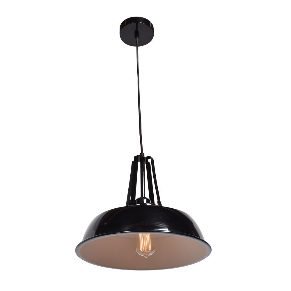 Access Lighting Nostalgia 1 Light Shiny Black Pendant