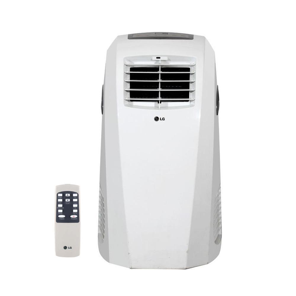 10,000 BTU (6,500 BTU, DOE), 115-Volt Portable AC w/ Dehumidifier Function  and LCD Remote in White