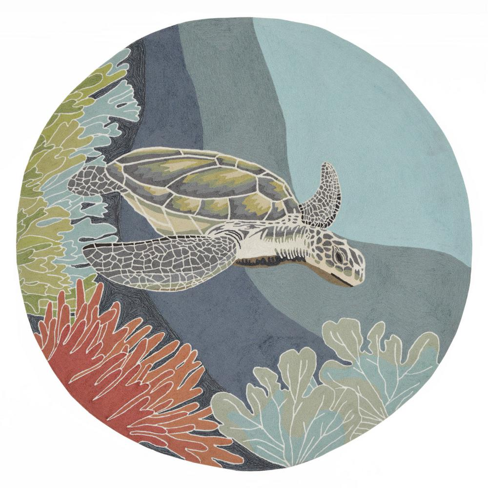 Sinclair Ocean Turtle Ocean 8 Ft. X 8 Ft. Indoor/Outdoor