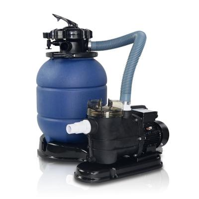 12 in. 1.25 sq. ft. 2400 GPH Self-Priming Sand Pool Filter with 3/4 HP Pool Pump and Stand