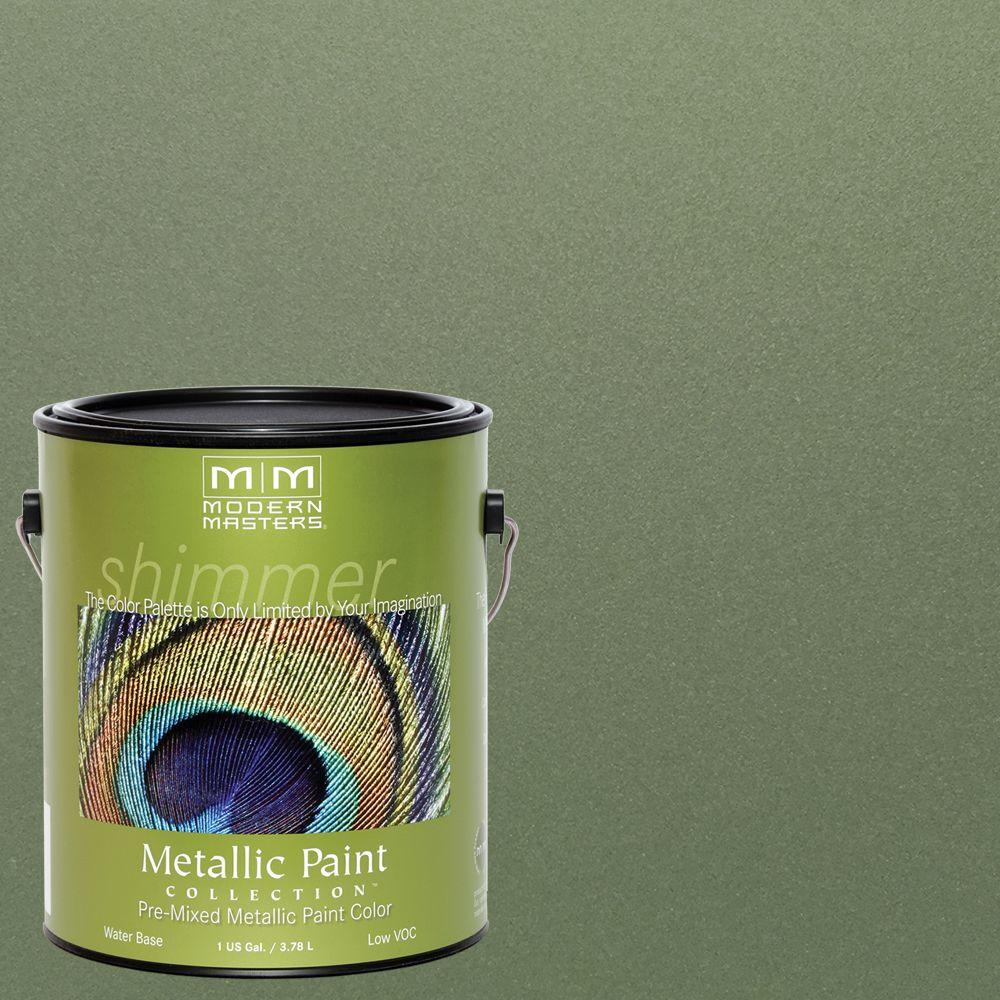 1 gal. Ivy Water-Based Satin Metallic Interior/Exterior Paint