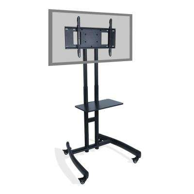 Atlantic TV Cart with Stand Mount in Black
