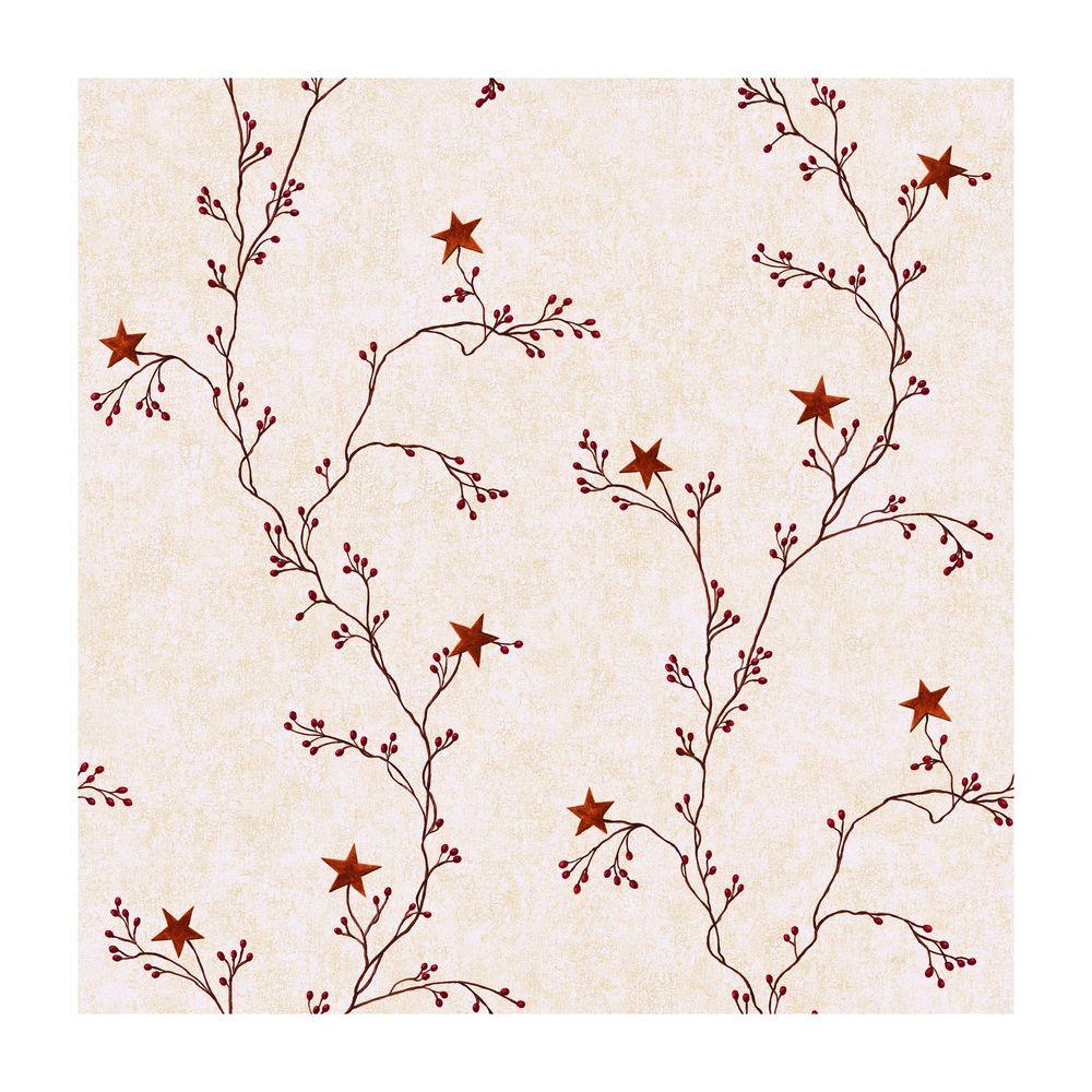 YORK Best of Country Star Berry Vine Wallpaper, Off White