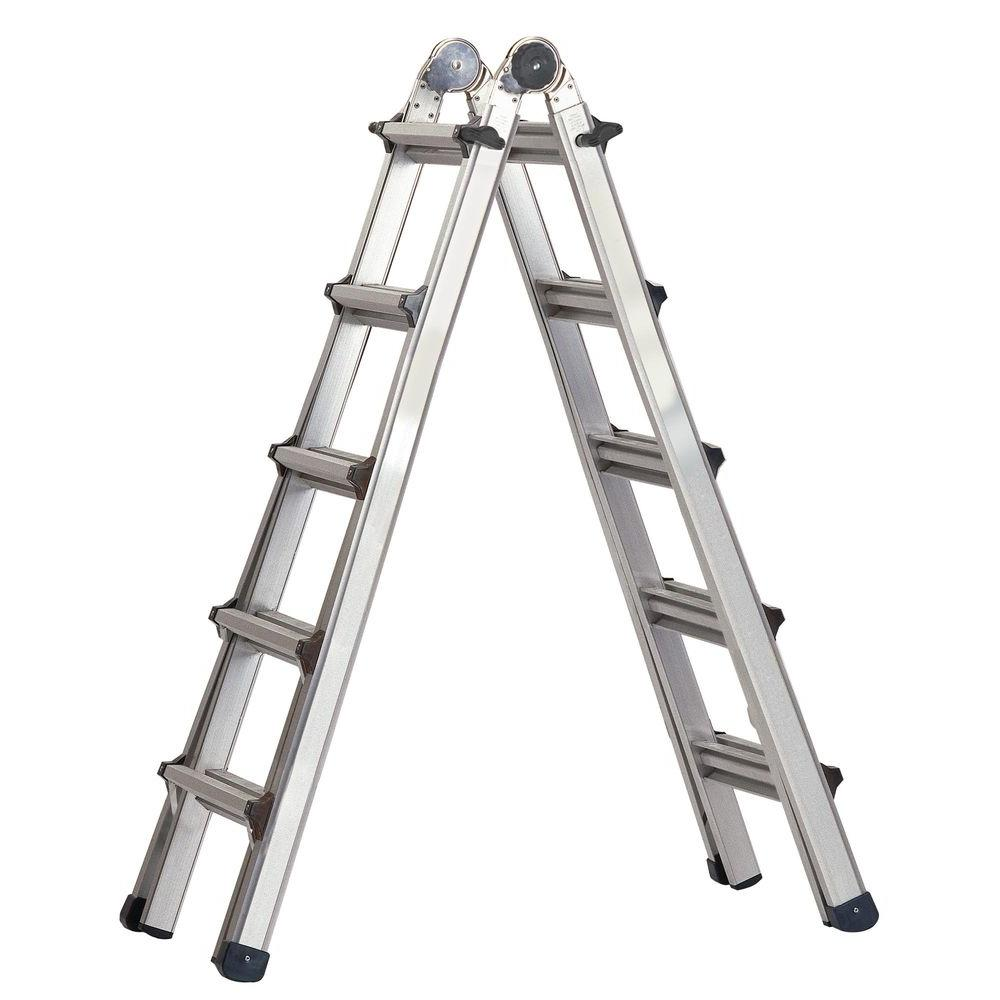 Cosco World's Greatest 21 ft. Aluminum  Multi-Position Ladder with 300 lb. Load Capacity Type IA Duty Rating