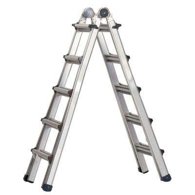 World's Greatest 21 ft. Aluminum  Multi-Position Ladder with 300 lb. Load Capacity Type IA Duty Rating