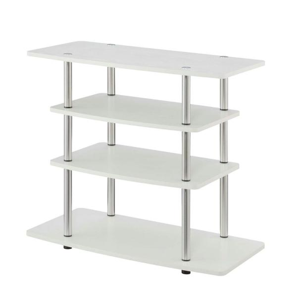Designs2Go 31.5 in. W White No Tools Highboy TV Stand
