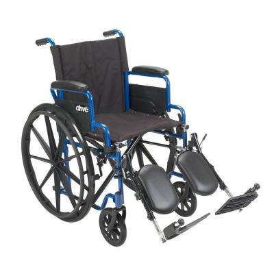 18 in. Blue Streak Wheelchair with Flip Back Desk Arms and Elevating Leg Rests