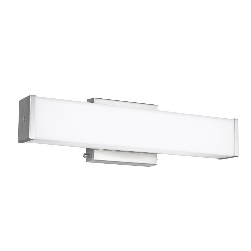 Sea Gull Lighting Aldridge 16.5-Watt Brushed Nickel Integrated LED Bath Light was $158.9 now $100.17 (37.0% off)