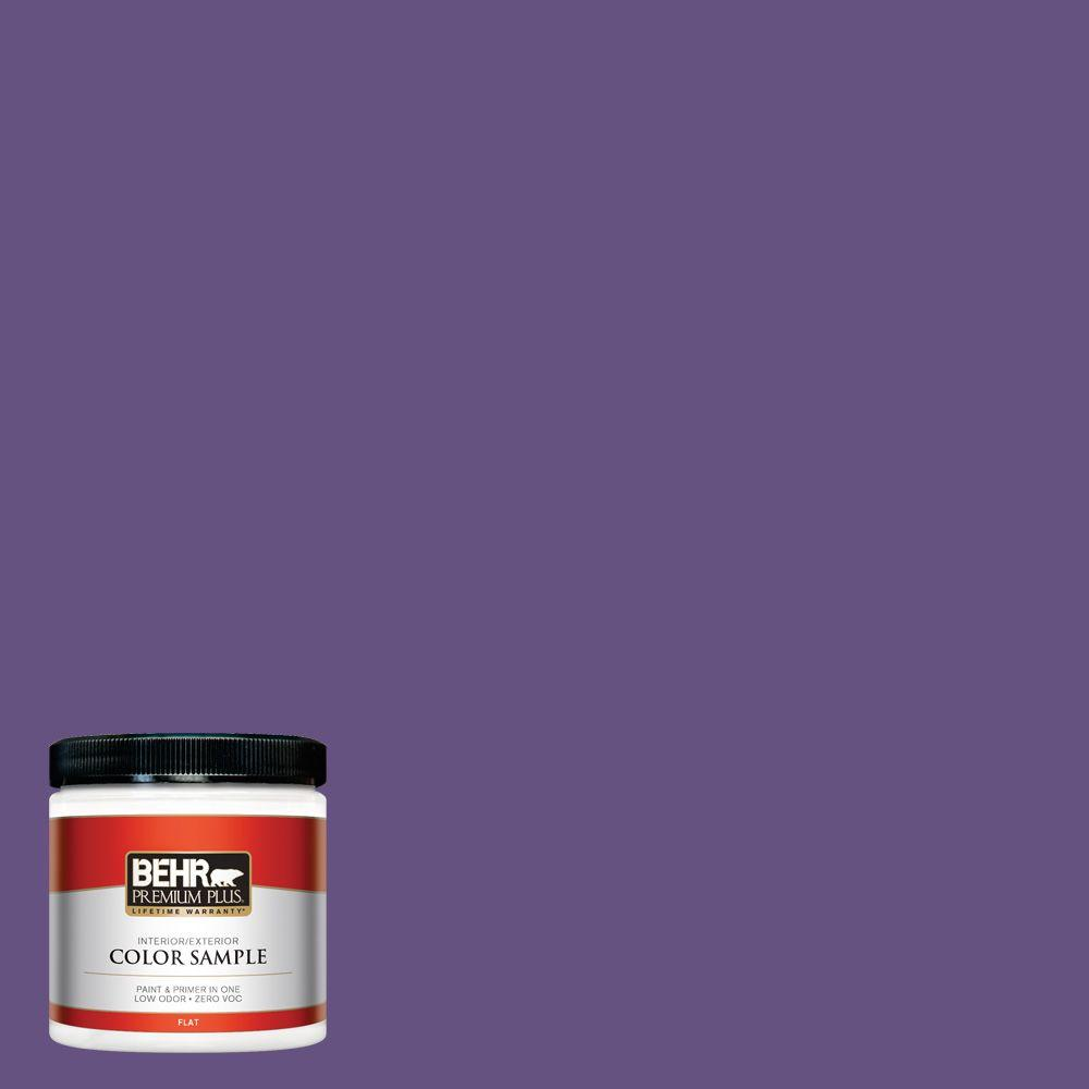 BEHR Premium Plus 8 oz. #HDC-MD-25 Virtual Violet Flat Zero VOC Interior/Exterior Paint and Primer in One Sample