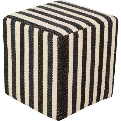 Caliban Black Accent Pouf Ottoman