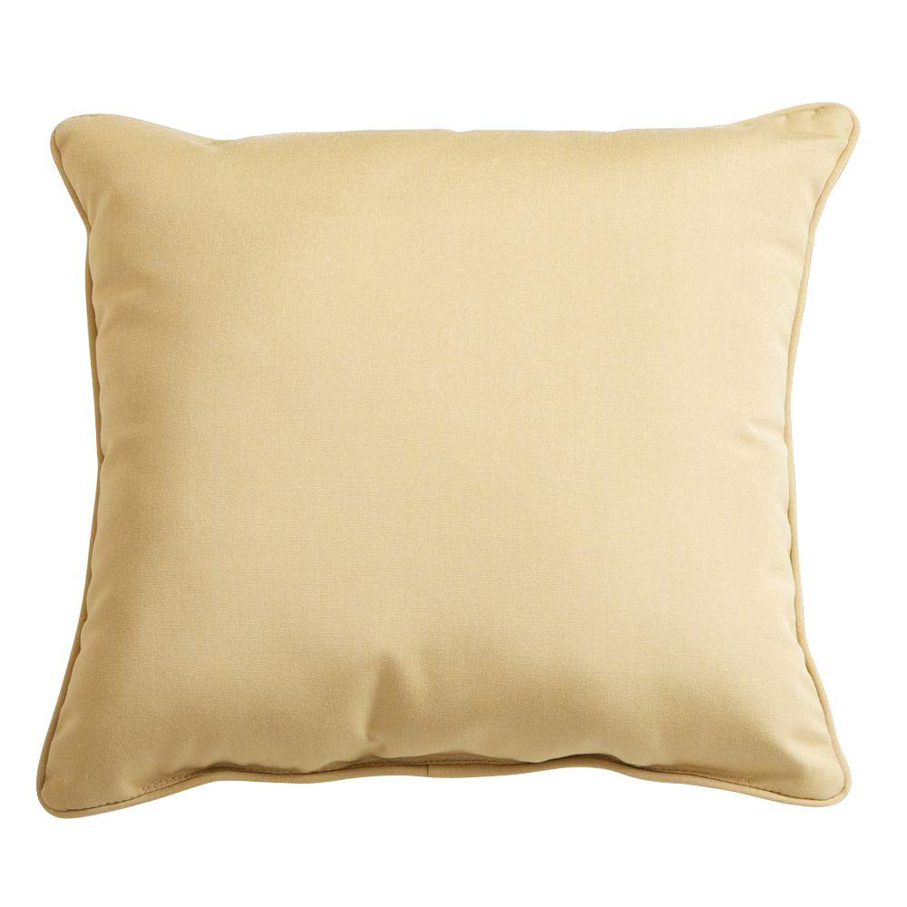 RST Brands Wheat 17 in. x 17 in. Outdoor Throw Pillow
