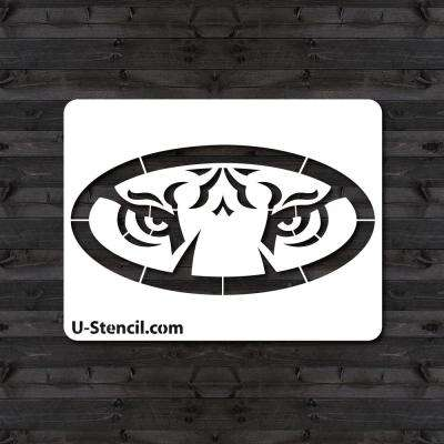"Auburn ""Tigers Shield"" Mini Stencil"