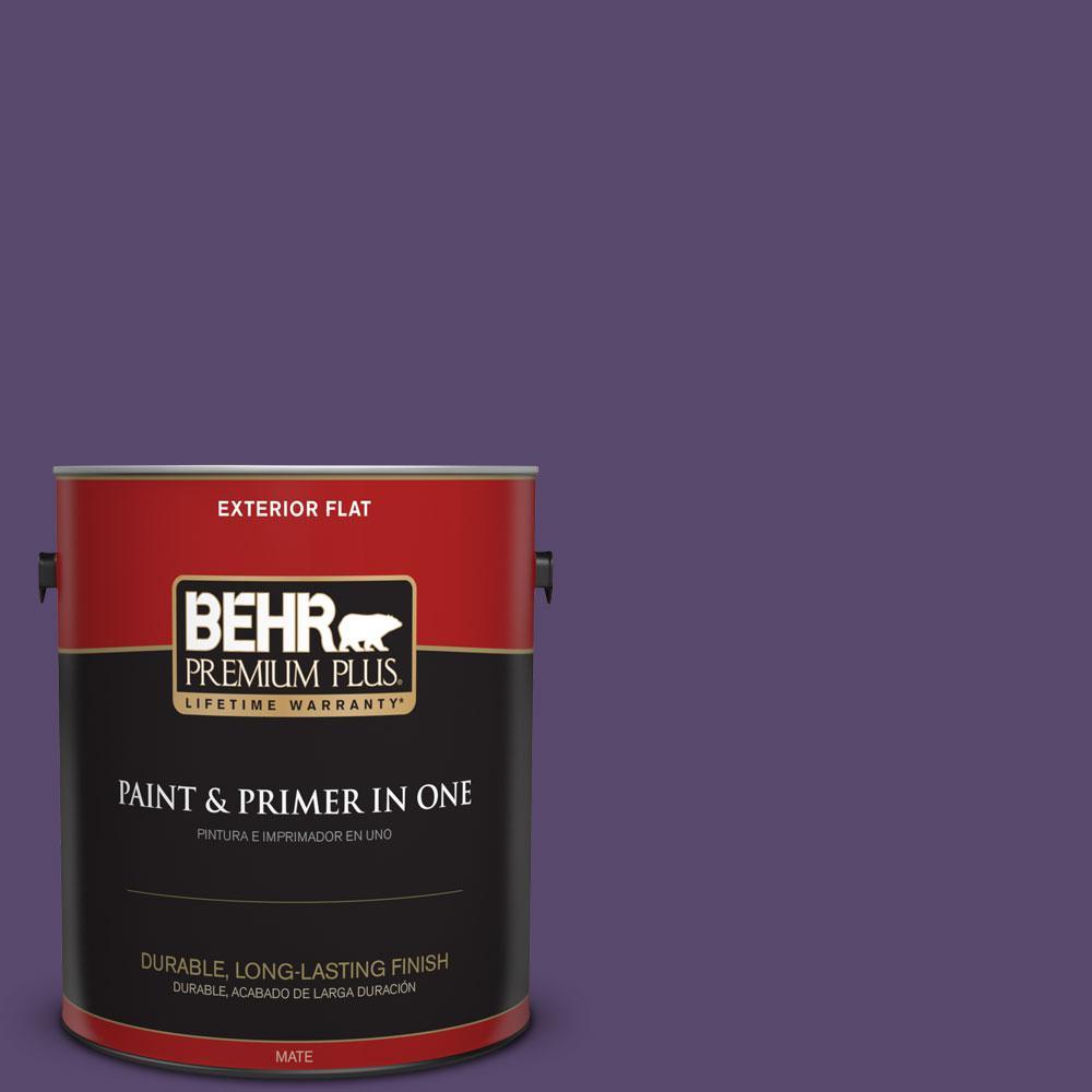 BEHR Premium Plus 1-gal. #P570-7 Proper Purple Flat Exterior Paint