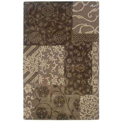Ashton Collection Brown and Cream 1 ft. 10 in. x 2 ft. 10 in. Indoor Area Rug