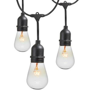 48 ft. 11-Watt Outdoor Weatherproof String Light with S14 Incandescent Light Bulbs Included