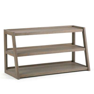 Sawhorse Distressed Grey 48 in. TV Media Stand