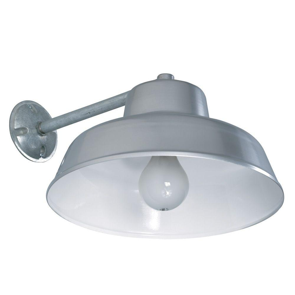 Aspects Farm and Home 1-Light 14 in. Silver Yardlight with Reflector