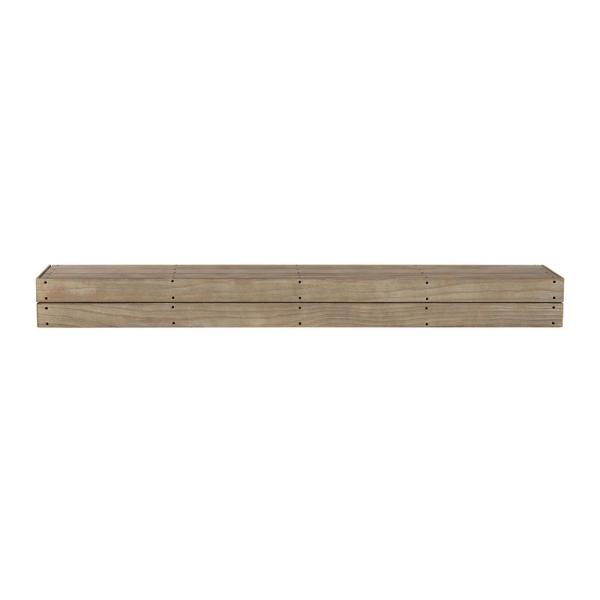 The Cades Cove 6 ft. Pallet Fontana Finish Cap-Shelf Mantel