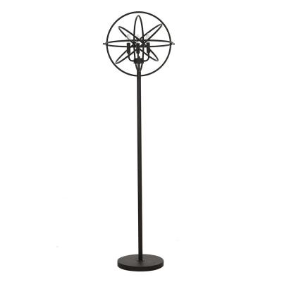 60 in. Black Industrial Chandelier Floor Lamp