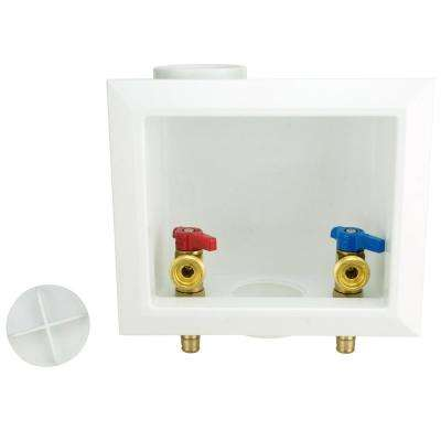 1/2 in. Brass PEX-A Barb Washing Machine Outlet Box